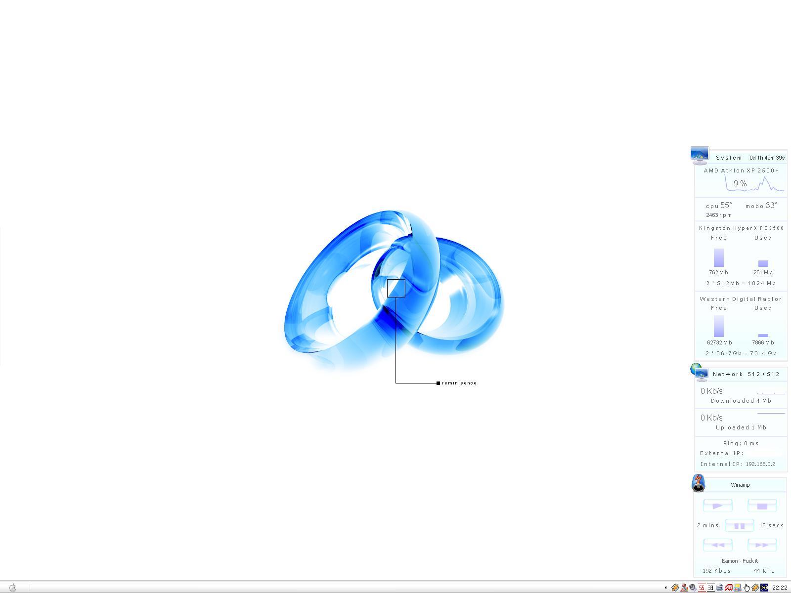 Title: Blue Minimalism v. 1.0