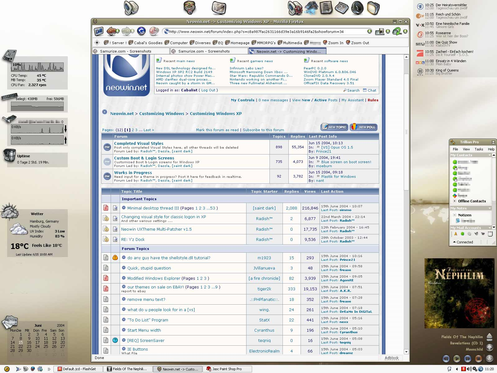 Title: My June Desktop: Gant