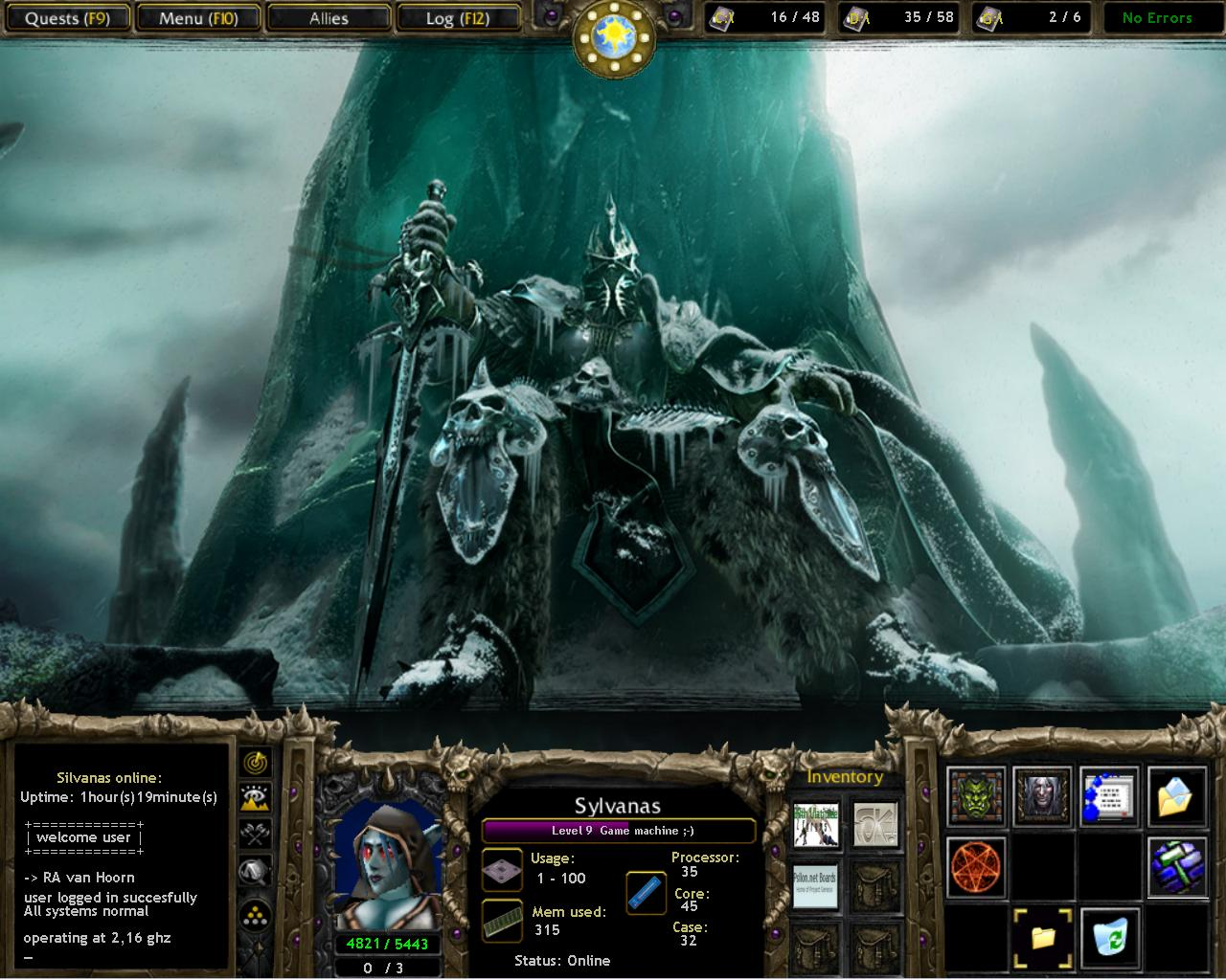 Title: warcraft III desktop