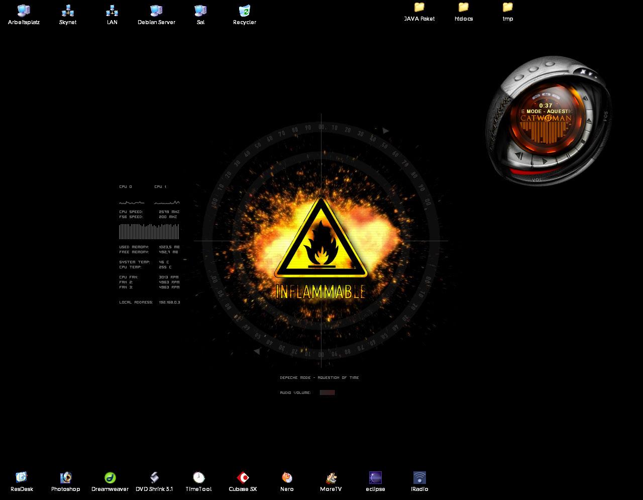 Title: My inflammable Desktop