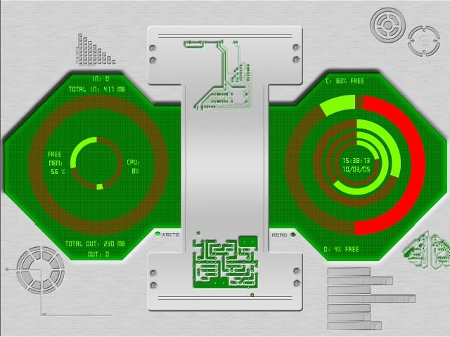 Title: Circulator - Every meter depicted circularly...
