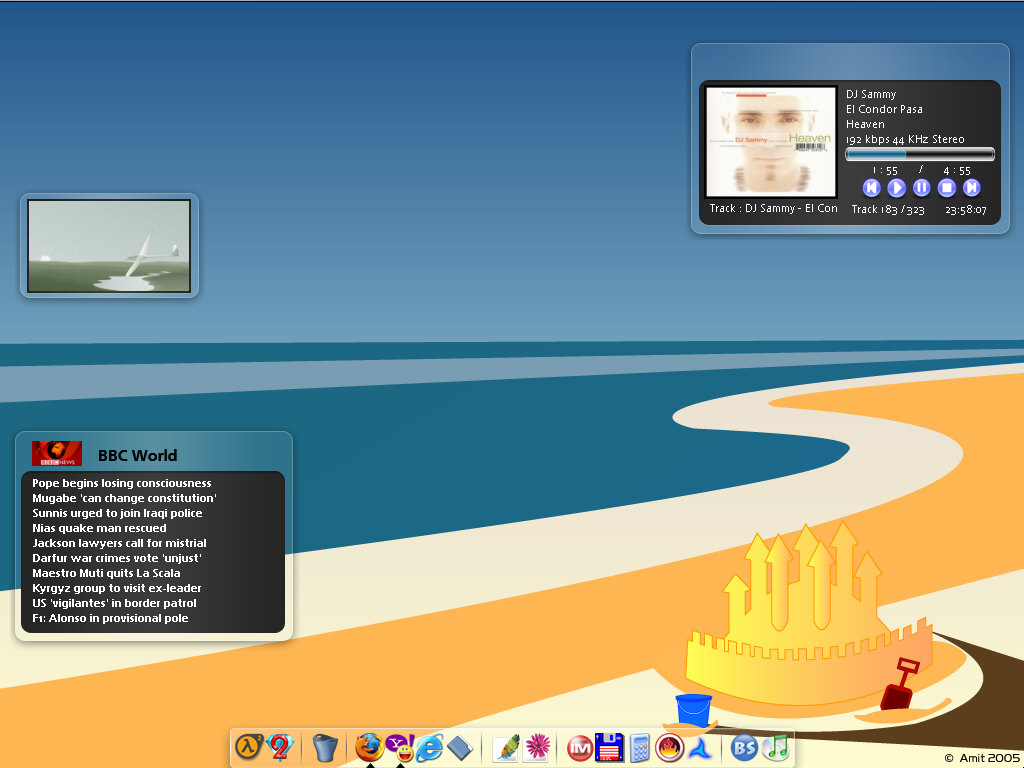 Title: My Afternoon at the Beach Desktop
