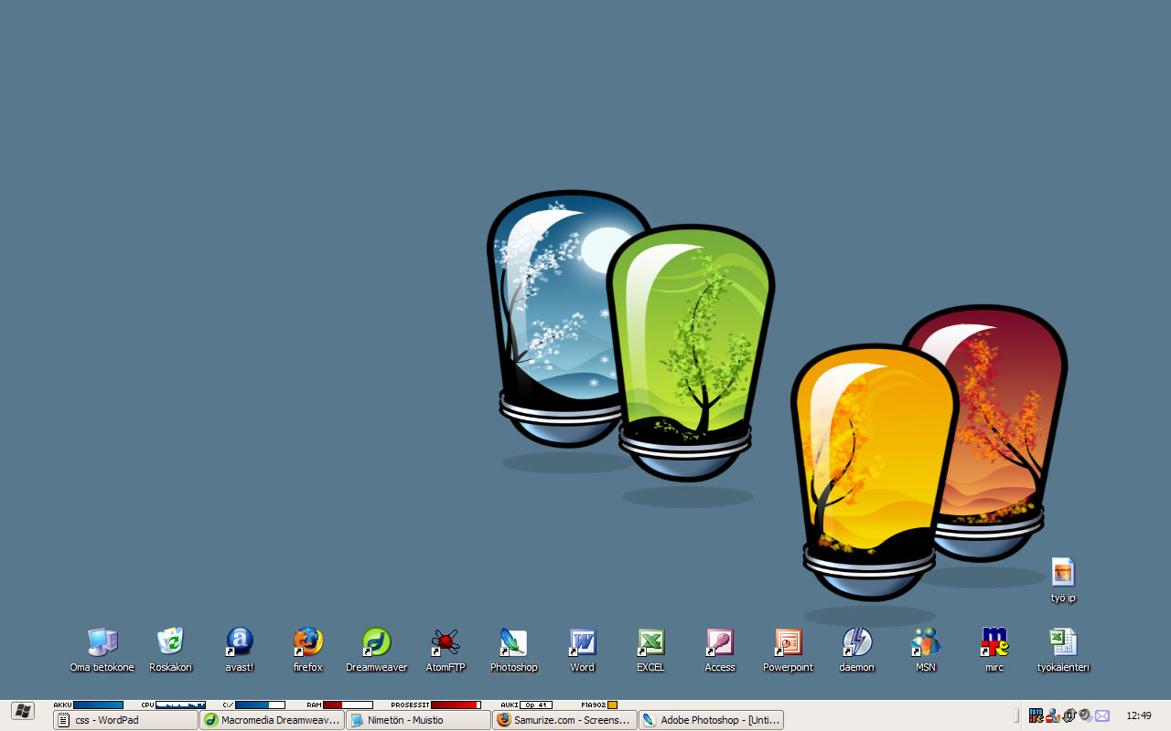 Title: Laptop Taskbar