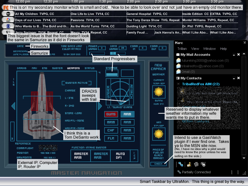 Title: Battlestar Galactica - Secondary Monitor
