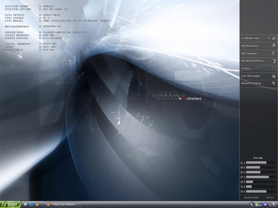 Title: Samurize desktop