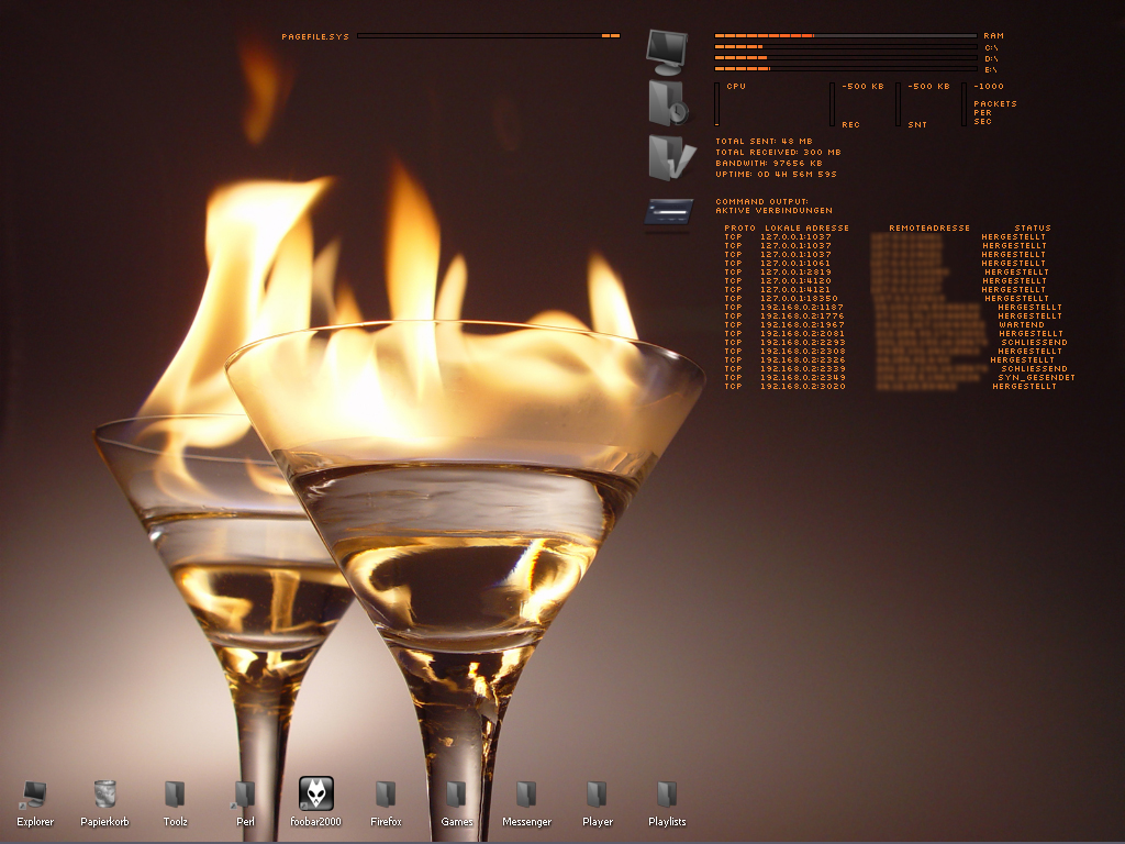 Title: Burning Coctails