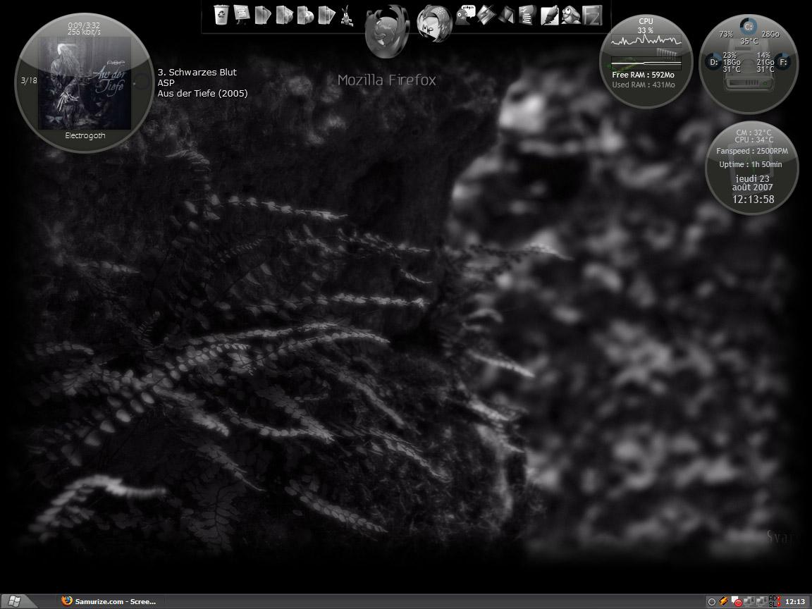 Title: My desktop // First samurize config // by Svargt