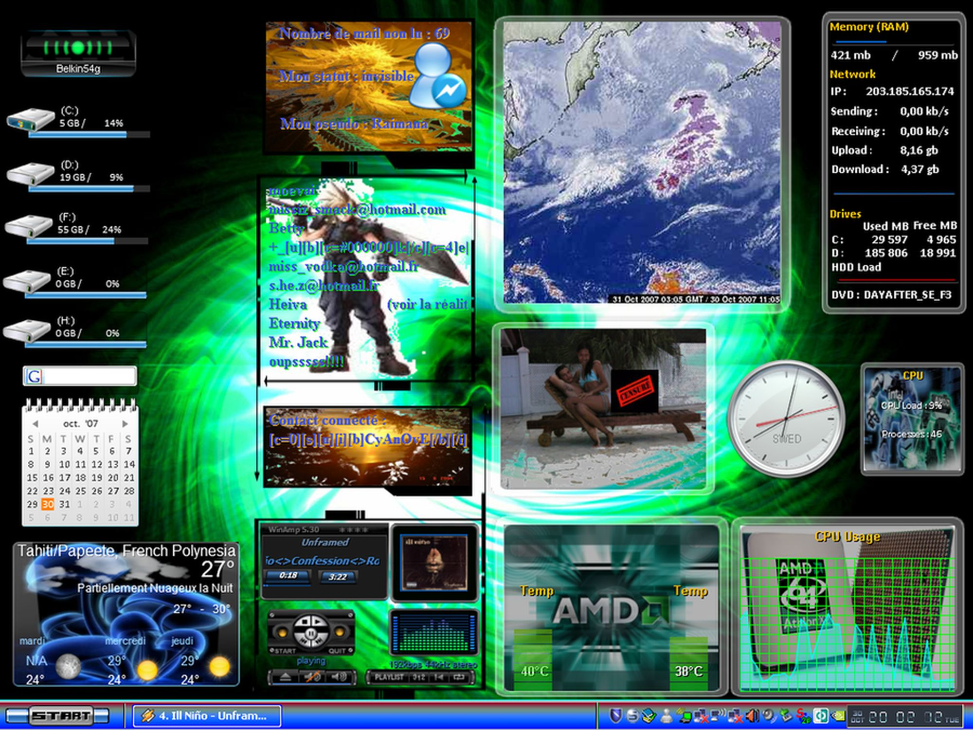 Title: My First Samurize Desktop