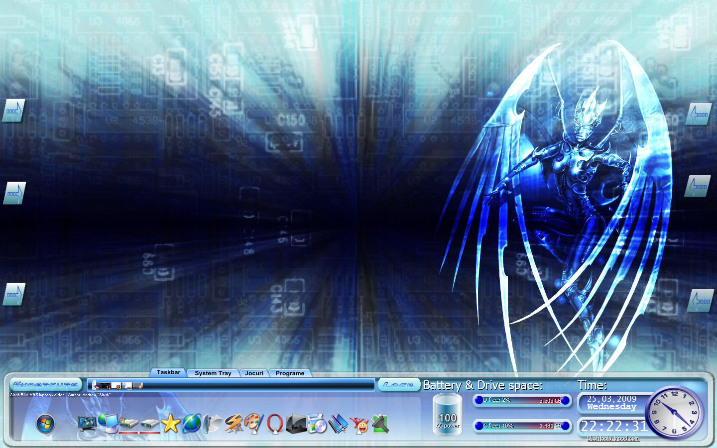 Title: Slash Blue V9.5 laptop edition