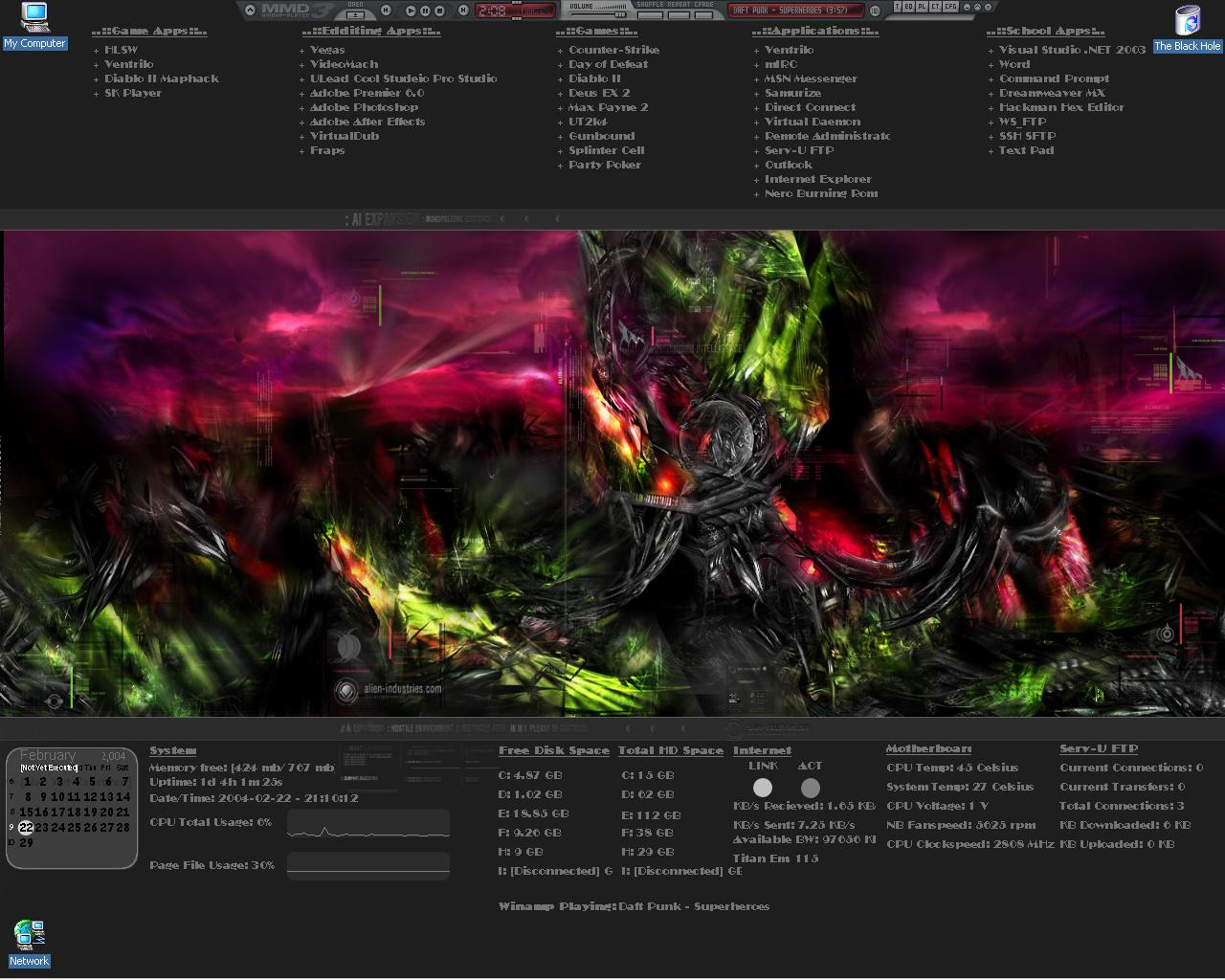 Title: ak's new desktop