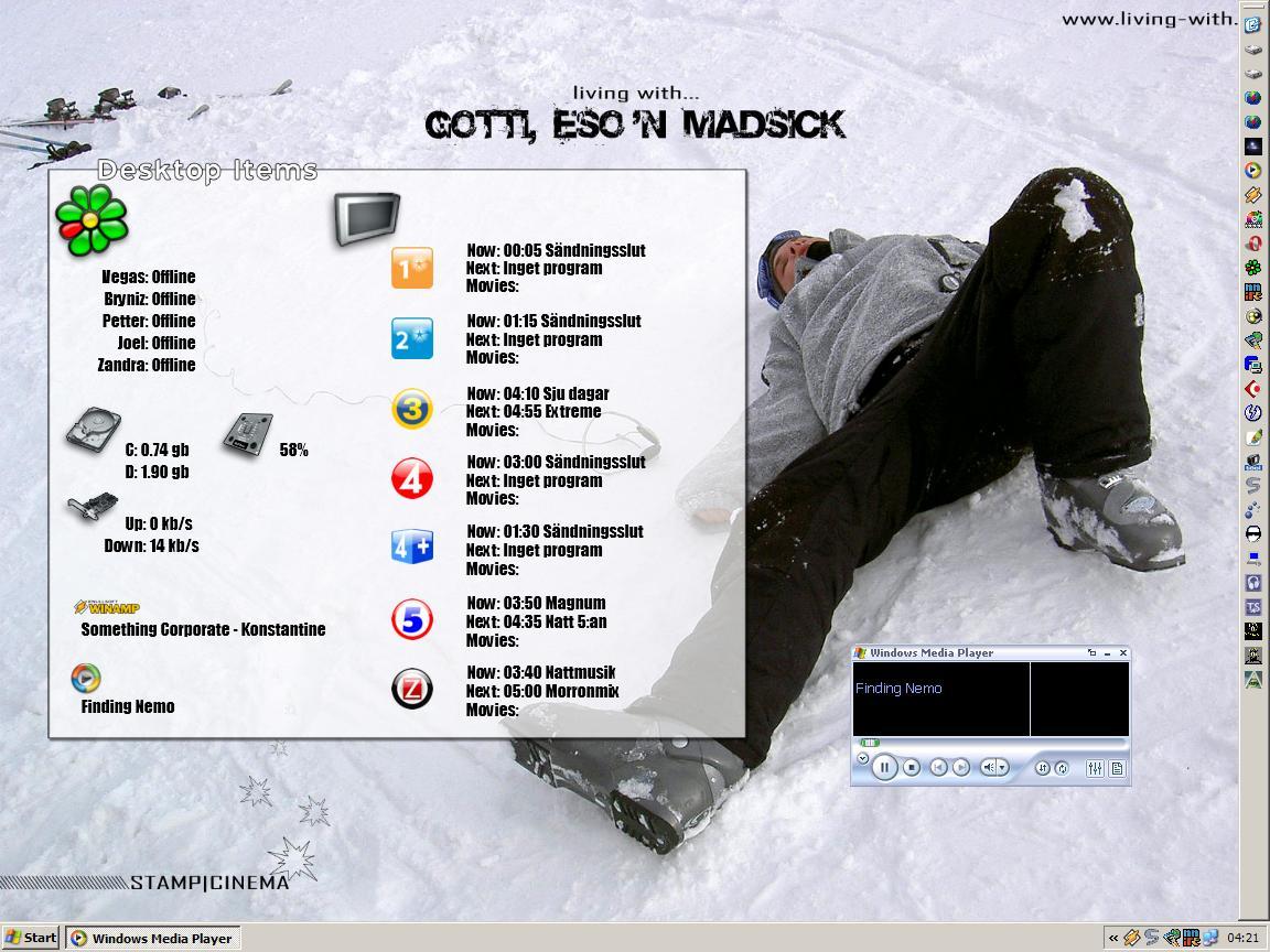 Title: Clipsey's desktop!
